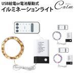 イルミネーションライト USB給電 電池駆動 LED ライト 防水 10段階 調光 装飾 電飾 クリスマス パーティー