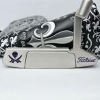 スコッティキャメロン カスタムパター ニューポート2 [Pirate Skull] Custom with Spider 20g ウェイト Purple & silver 34インチ