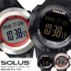 エントリーでP5倍 SOLUS ソーラス 心拍計 腕時計 メンズ 歩数計 スポーツウォッチ ハートレート ストップウォッチ 01-101