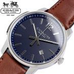 COACH コーチ ブリーカー スリム 腕時計 メンズ クオーツ 3気圧防水 日付表示 ステンレス レザーベルト ミネラルガラス シンプル ブランド 14602004