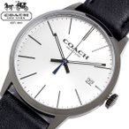 エントリーでP6倍 COACH コーチ メトロポリタン 腕時計 メンズ クオーツ 3気圧防水 日付表示 ステンレス レザーベルト ミネラルガラス ブランド 14602096