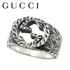 GUCCI グッチ リング 指輪 シルバー インターロッキングG メンズ ブランド プレゼント 455302 J8400 0811