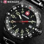 WENGER ウェンガー オフロード メンズ オールブラック ステンレス 腕時計 79309W
