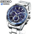 SEIKO セイコー WIRED ワイアード 腕時計 メンズ 時計 クロノグラフ AGAV101 立...