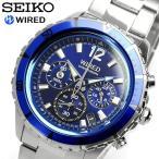 【SEIKO WIRED】 セイコー ワイアード 腕時計 クロノグラフ 10気圧防水 AGAW428...