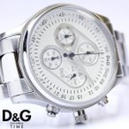 D&G ドルチェ&ガッバーナ クロノグラフ メントーン メンズ腕時計 DW0431 ディーアンドジー D&G ドルガバ