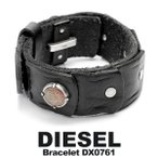 女性会員ポイント15倍 DIESEL/ディーゼル ブレスレット 本革レザー メンズ アクセサリー ブラック ブランド DX0761