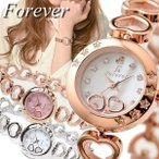 Forever フォーエバー レディース腕時計 ハートブレスレット ダイヤモンド シェル文字盤 FL1207