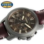 FOSSIL フォッシル GRANT グラント 腕時計 メンズ クロノグラフ クオーツ 5気圧防水 レトロ ステンレス レザー ミネラルガラス ブラウン FS5088