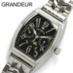 【グランドール GRANDEUR】 腕時計 メンズ ムーンフェイズ GSX018W3 ブラック