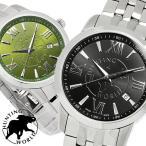 エントリーでP5倍 【HUNTING WORLD・ハンティングワールド】 腕時計 メンズ タイムチェイサー スイス製 5気圧防水 メタル カレンダー HW920