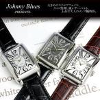 エントリーでP5倍 腕時計/メンズ腕時計/メンズ/革ベルト/ジョニーブルース/腕時計