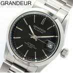 【グランドール GRANDEUR】 腕時計 メンズ 自動巻き 10気圧防水 OMX009W8 ブラック