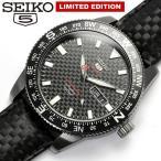 セイコー5 スポーツ SEIKO5 自動巻き 腕時計 メンズ 限定モデル カーボン 100M防水 レザー 革ベルト SRP719K1