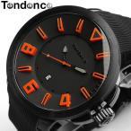 テンデンス Tendence 腕時計 メンズ ガリバースポーツ TT530003 ブラック×オレンジ