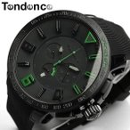 テンデンス Tendence 腕時計 メンズ ガリバースポーツ TT560003 ブラック×グリーン