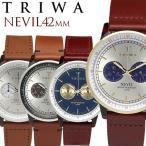 TRIWA/トリワ NEVIL 腕時計 クロノグラフ メンズ レディース ユニセックス ステンレス オーガニックレザー 日常生活強化防水 ストップウォッチ TW-NEAC