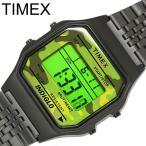 Timex タイメックス 80 デジタル メンズ レディース ユニセックス ウィメンズ 腕時計 カジュアル プラスチックケース ステンレスベルト 3気圧防水 TW2P67100