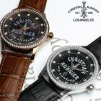 エントリーでP5倍 革ベルト 腕時計 メンズ クリスチャンオードジェー  革ベルト 腕時計
