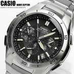 【CASIO カシオ】 ソーラー電波 WAVECEPTER 腕時計 メンズ クロノグラフ ワールドタイム 10気圧防水 タイマー WVQ-M410DE-1A2JF