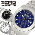 エントリーでP14倍 ZEROHALLIBURTON ゼロハリバートン 3針 Date 腕時計 メンズ ラウンドケース 10気圧防水 クオーツ ステンレス ブレス ミネラルガラス ZW005S