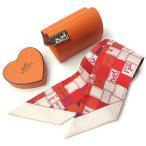 エルメス ツイリースカーフ HERMES バレンタイン限定パッケージ 062408S レッド+ピンク