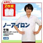 学生服 シャツ 半袖開衿カッターシャツ ワイシャツA体 2枚組 (両ポケット・両雨蓋付) 学生服とご一緒にどうぞ!
