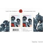 カナダ切手 戦没者記念碑 2枚1セット メール便配送(ポスト投函)、代引不可