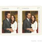 カナダ切手 ウィリアム王子ご成婚 セルフ糊 10枚 メール便配送(ポスト投函)、代引不可