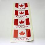 カナダ 国旗 カナダフラッグ ステッカー シール CANADA 93 x 67mm 4枚組