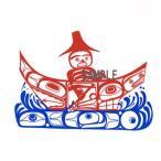 アメリカンステッカー デカール シール カナダ 先住民 インディアン 雑貨 透明 DECAL「 Paddle Your Own Canoe 」