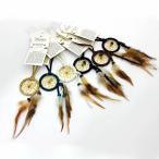 ドリームキャッチャー 本物 オジブア族 インディアン ハンドメイド 1.5インチ3.8cm カスケードナチュラルタイプ カナダ先住民お守り