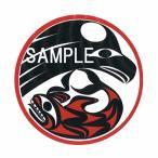 アメリカンステッカー デカール シール カナダ 先住民 インディアン 雑貨 透明 DECAL THUNDERBIRD+WHALE サンダーバードホエール