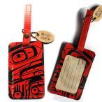 ラゲージタグ旅行カバンにネームタグ カナダ 先住民 ネイティブ インディアン アート デザイン RAVEN BOX