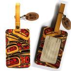 ラゲージタグ旅行カバンにネームタグ カナダ 先住民 ネイティブ インディアン アート デザイン PACIFIC SPIRIT