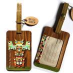 ラゲージタグ旅行カバンにネームタグ カナダ 先住民 ネイティブ インディアン アート デザイン TOTEM