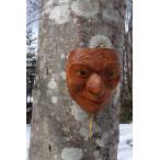 ネイティブアート カービング 木彫刻 / マスク  「Eagle eye」