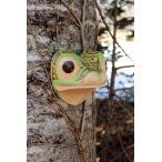 ネイティブアート カービング 木彫刻 / マスク  「カエル」