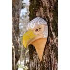 ネイティブアート カービング 木彫刻 / マスク  「ハクトウワシ」