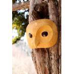 ネイティブアート カービング 木彫刻 / マスク  「フクロウ」