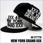 XXX45 NYキャップ ニューヨークキャップ ロゴキャップ 平らなツバ ツバ裏プリント ストレートキャップ ヤンキー ニューヨークロゴ NYロゴ 黒