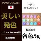お試し用 粉末顔料 蛍光6色セット 各色5g キャンドル 材料 カラー 顔料 着色