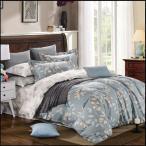 布団カバー ダブル 北欧 植物柄 高密度綿 4点 寝具 1058