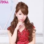 ウィッグ エクステ 盛り 盛れる 盛り髪 ハーフキャップ 姫盛りロングカール J-808耐熱 (送料無料) プリシラ PRISILA