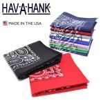 ショッピングバンダナ メール便可 HAV-A-HANK ハバハンク バンダナ ペイズリー コットン100% アメリカ製