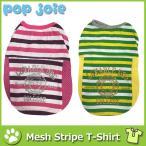犬 服 春夏 ボーダー柄 メッシュシャツ 全2色 4サイズ 小柄犬から中型犬まで ポイント消化