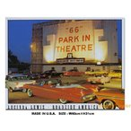 アメリカ ブリキ看板 ルート66パークインシアター ルシンダ・ルイス アメリカ雑貨 アメリカン サインプレート ティンサインボード インテリア 壁飾り