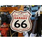 バステッドナックルガレージ ルート66ロードサインのU.S.ヘヴィースチールサイン アメリカ雑貨 アメリカン雑貨 サインプレート ティンサインボード