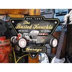バステッドナックルガレージ ホットロッドカーのU.S.ヘヴィースチールサイン アメリカ雑貨 アメリカン雑貨