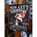 シンシティ・ウイスキーのブリキ看板 アメリカン雑貨